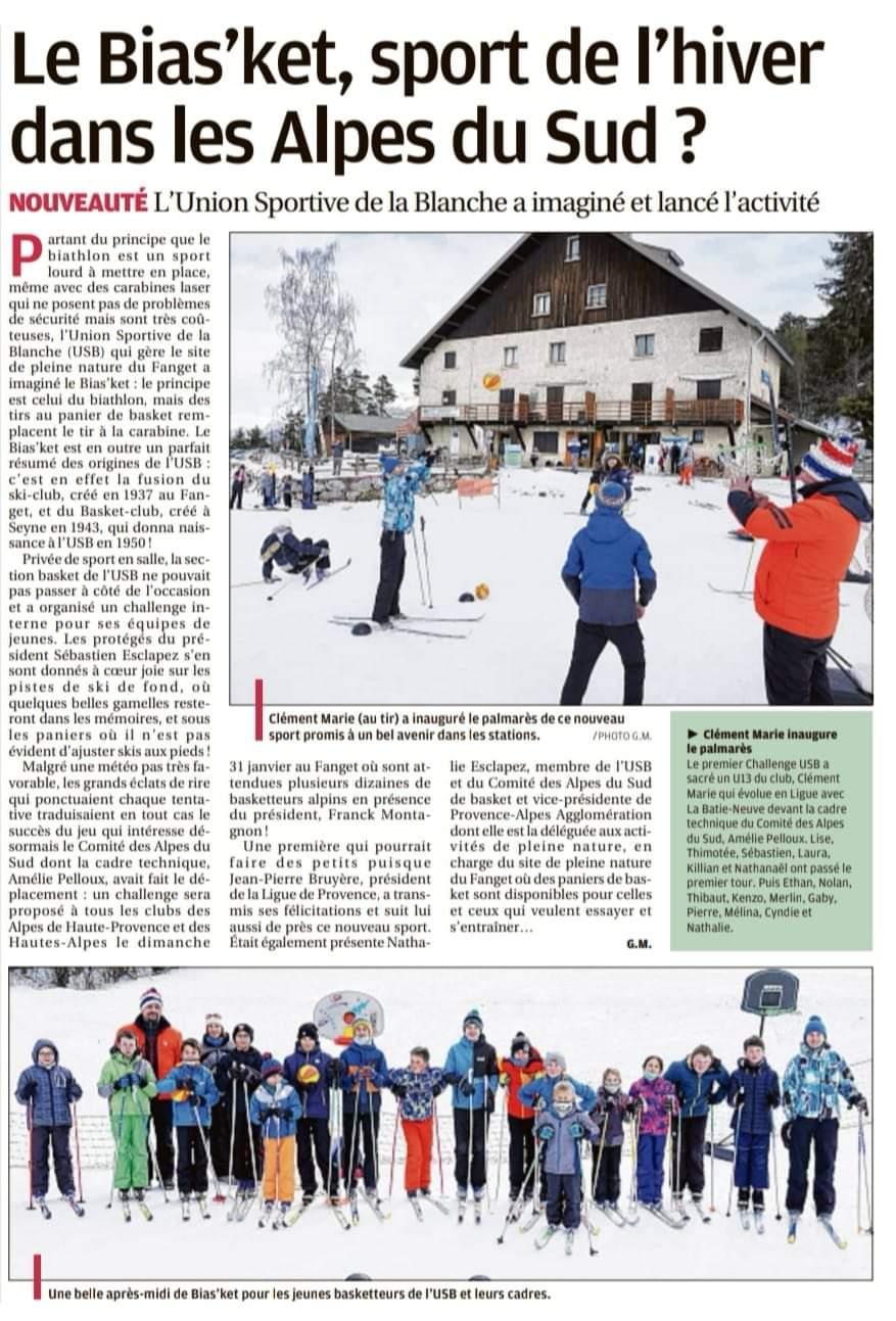 Le Bias'ket, sport de l'hiver dans les Alpes du Sud ?