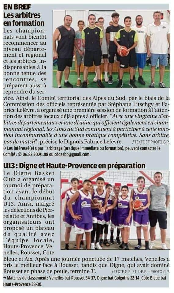 U13 : Digne et Haute Provence en preparation