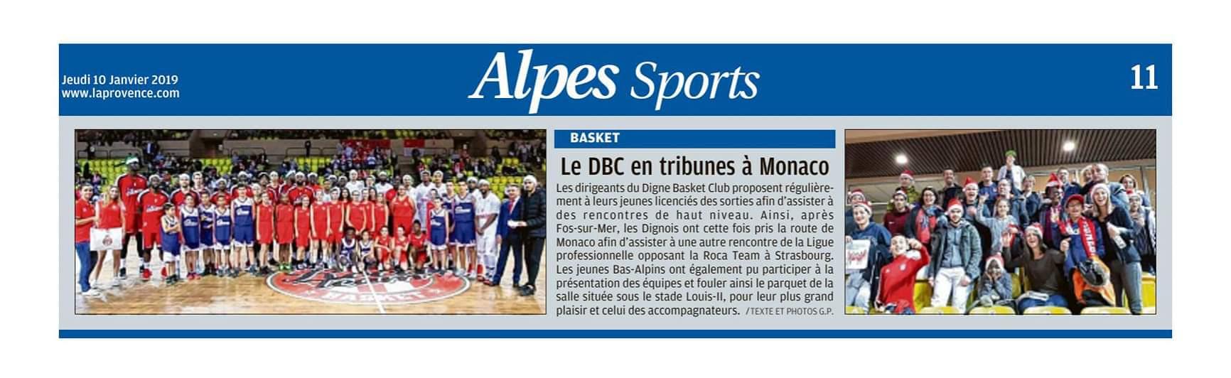 Le DBC en tribune à Monaco