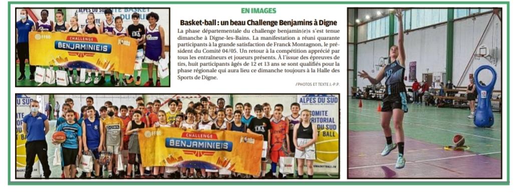 Basket-Ball : un beau Challenge Benjamins à Digne