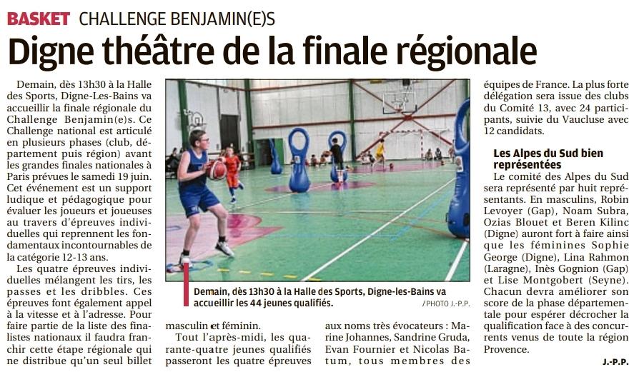 Challenge Benjamin(e)s : Digne théâtre de la finale régionale
