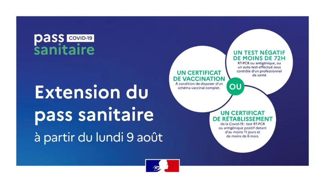 Le pass sanitaire dans le sport au 09 août 2021