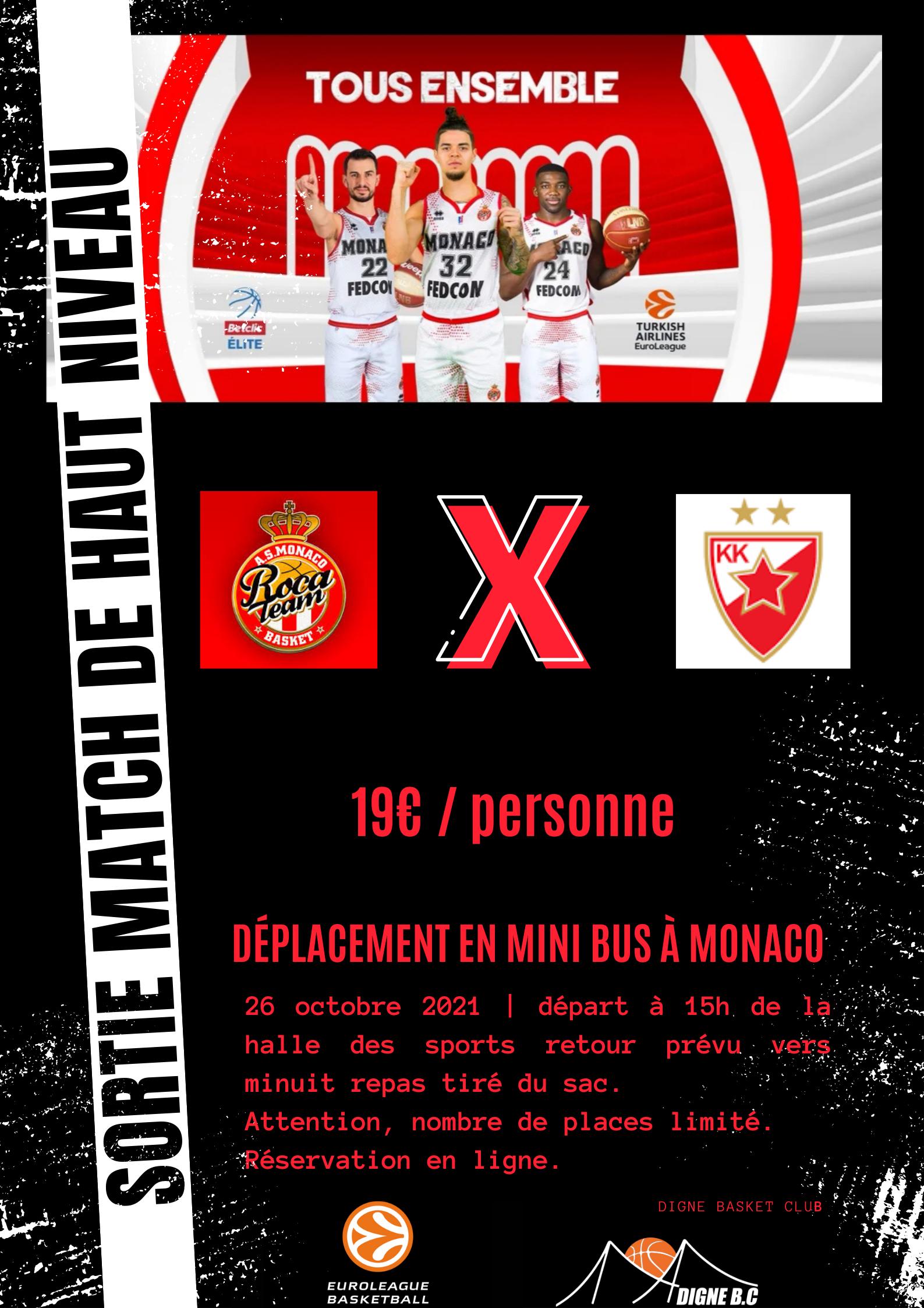 Sortie Euroleague : Monaco - Belgrade