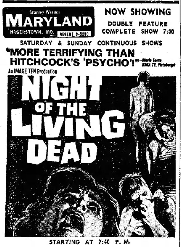 Night of the Living Dead Newspaper Ad from The Morning Herald Fri Dec 13 1968
