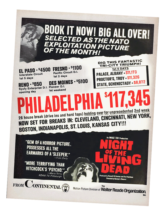 Night of the Living Dead Trade ad from Continental