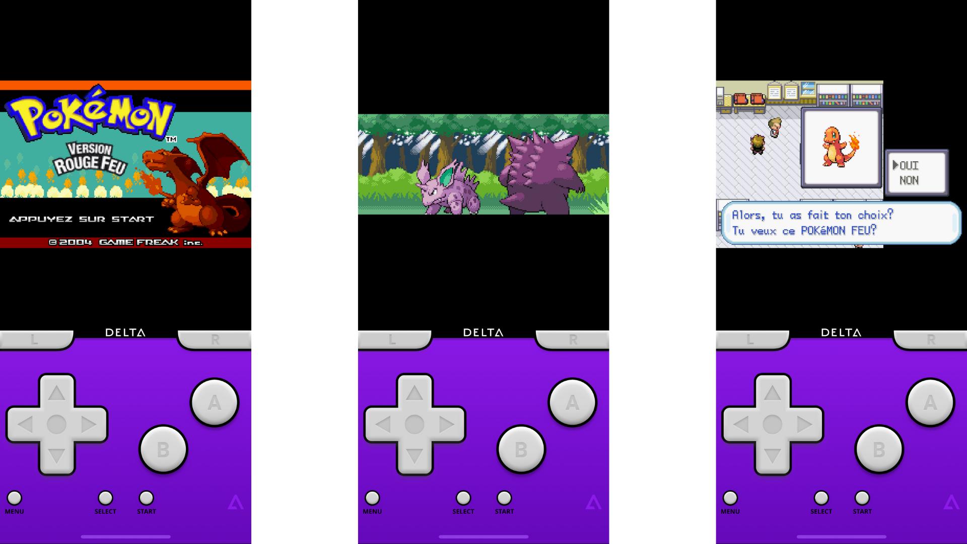 Pokemon Rouge sur iPhone