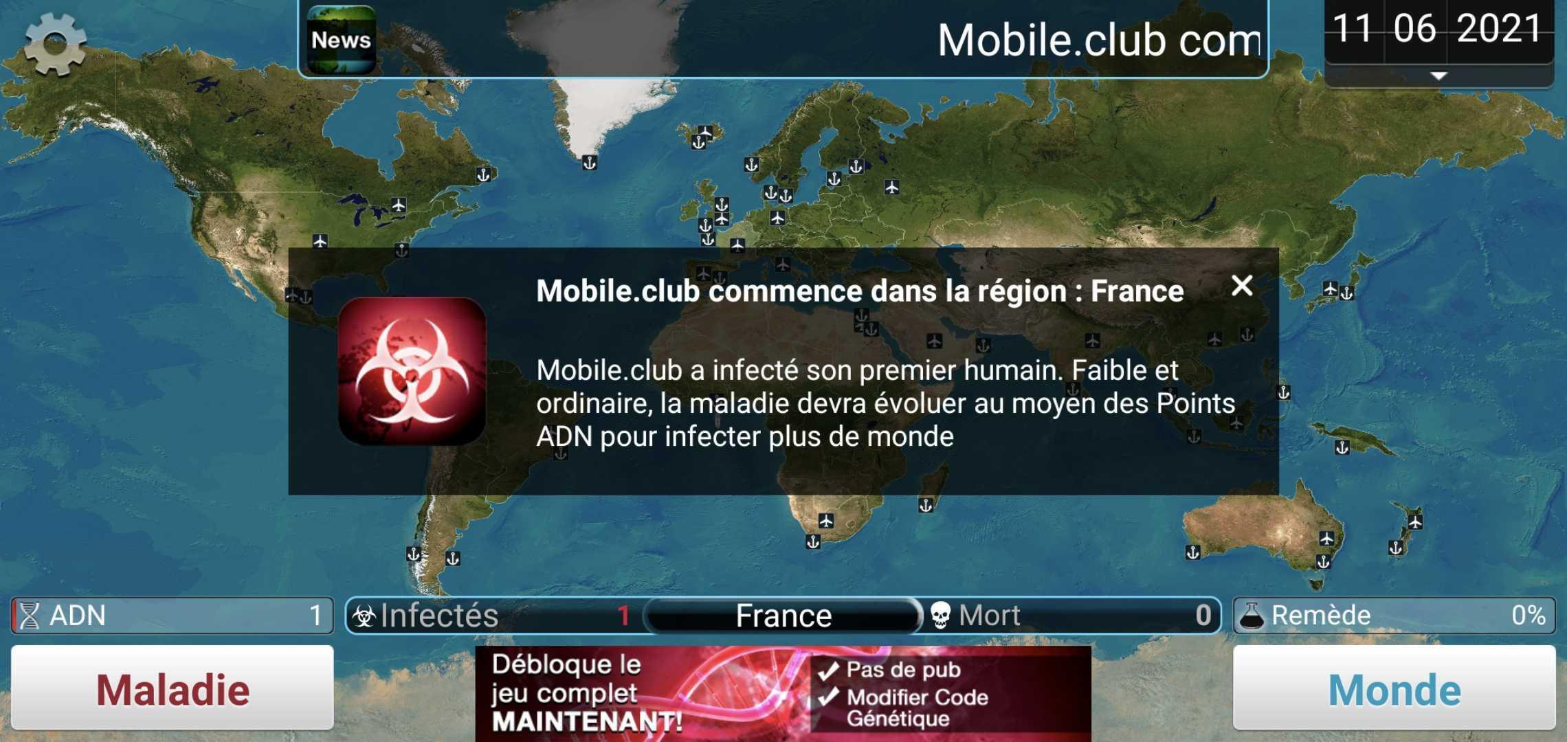 jeux sans connexion : plague