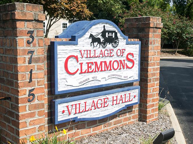 Village of Clemmons Village Hall sign