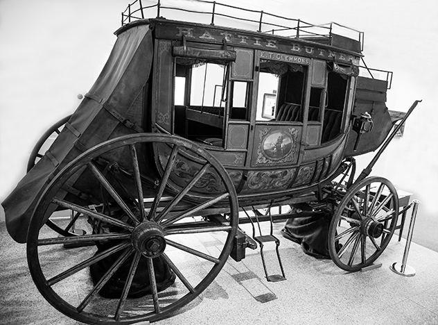 The Hattie Butner stagecoach is an iconic symbol of the Clemmons Community.