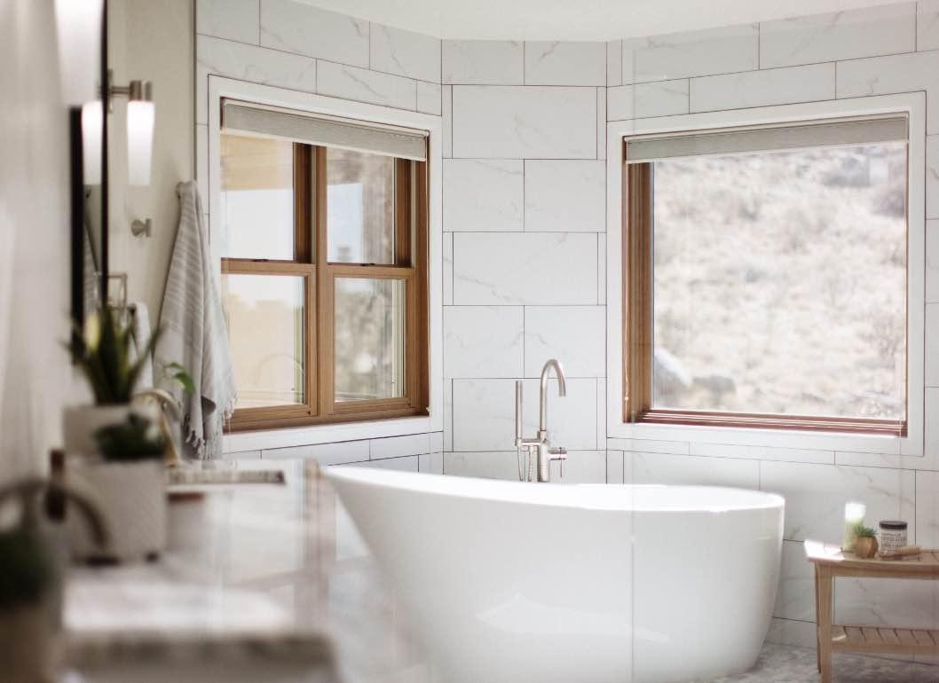 a beautiful modern bathroom that makes sense