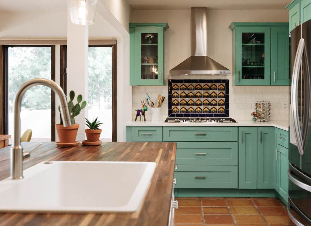 a beautifully stylized kitchen that's perfectly designed
