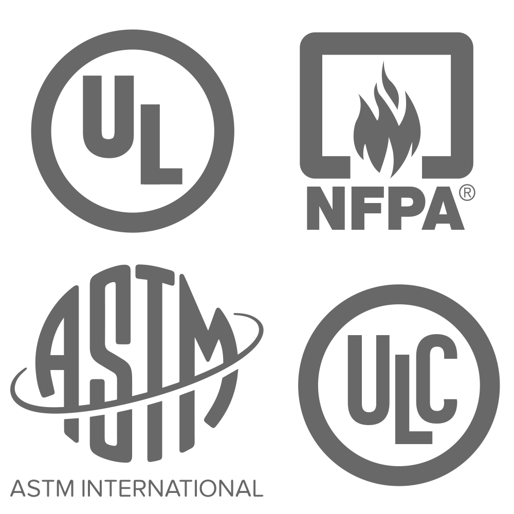 4 logos identifying different certifications