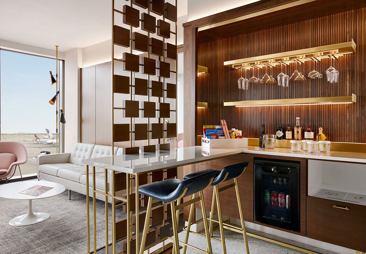Photo of TWA Hotel guest rooms bar