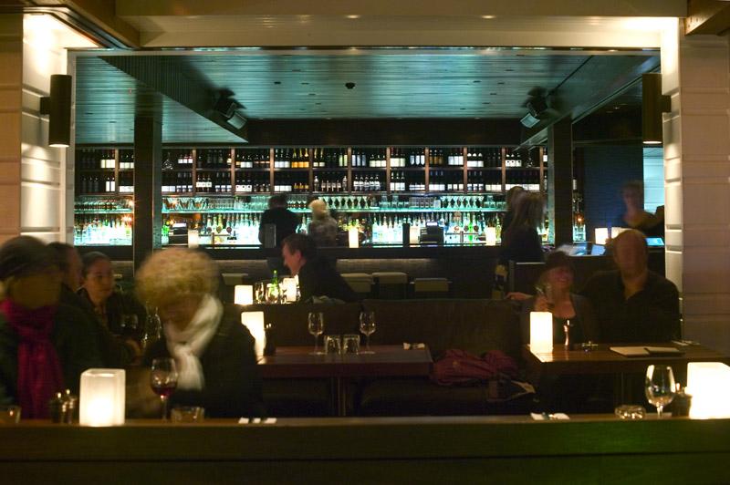 Photo of Hugos restaurant interiors and bar