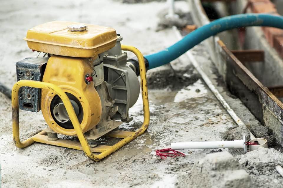yellow generator on construction site