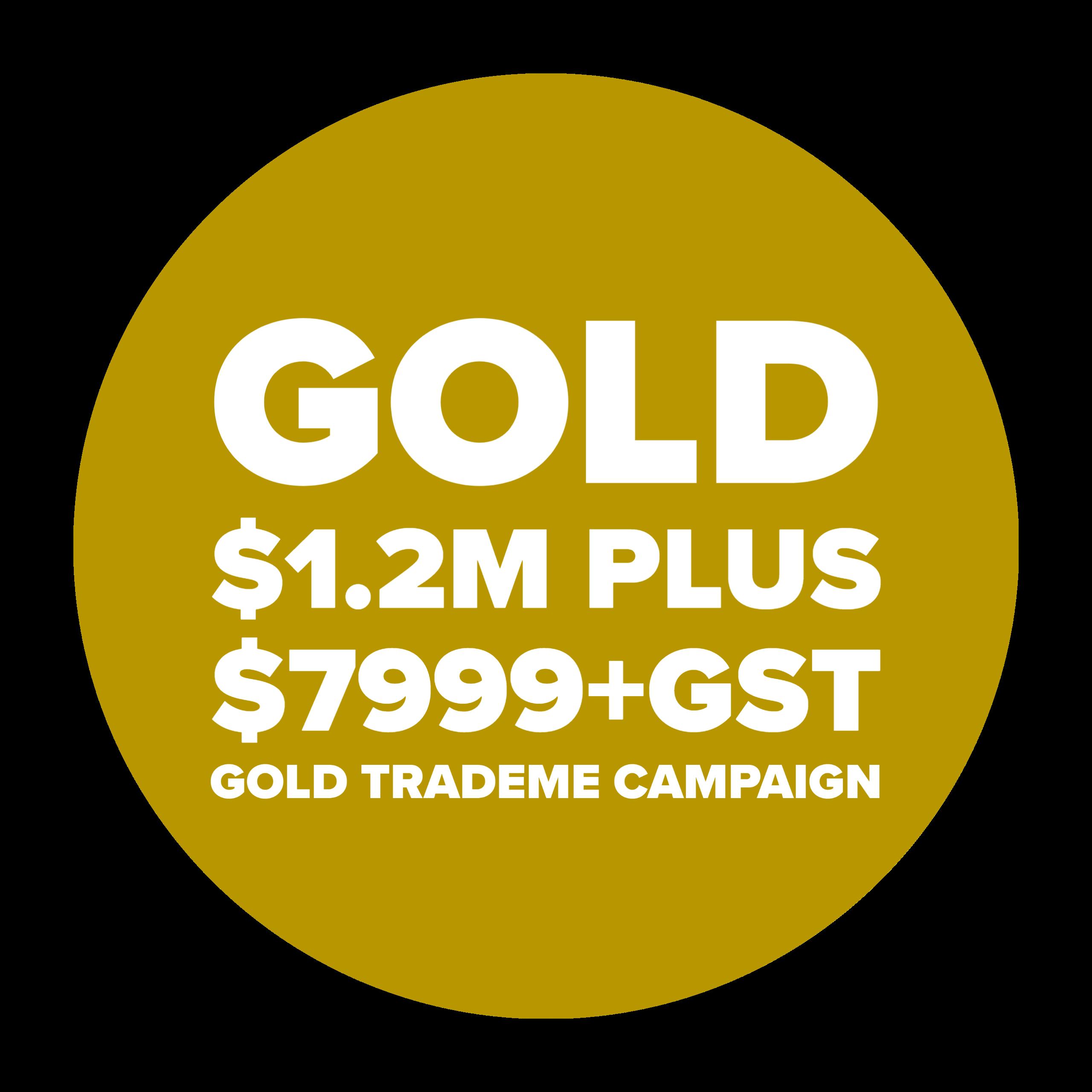Gold $7999+GST