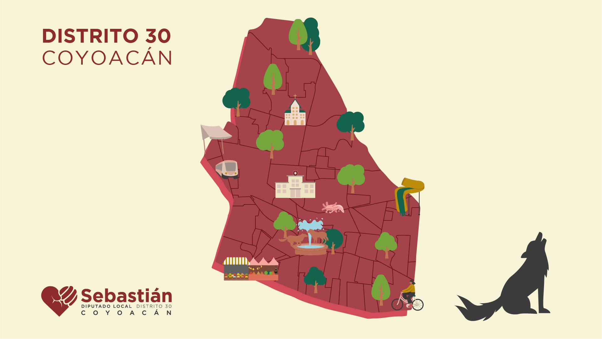 Mapa del distrito 30