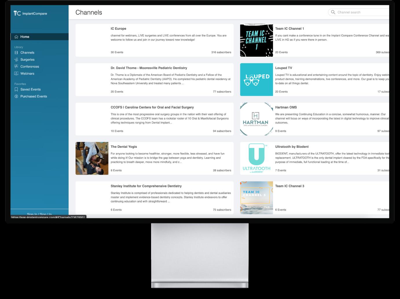 Apple monitor showcase the implant compare platform