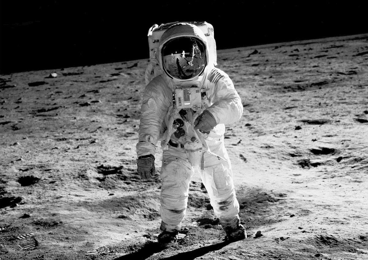 Photo astronaute Buzz Aldrin sur la lune