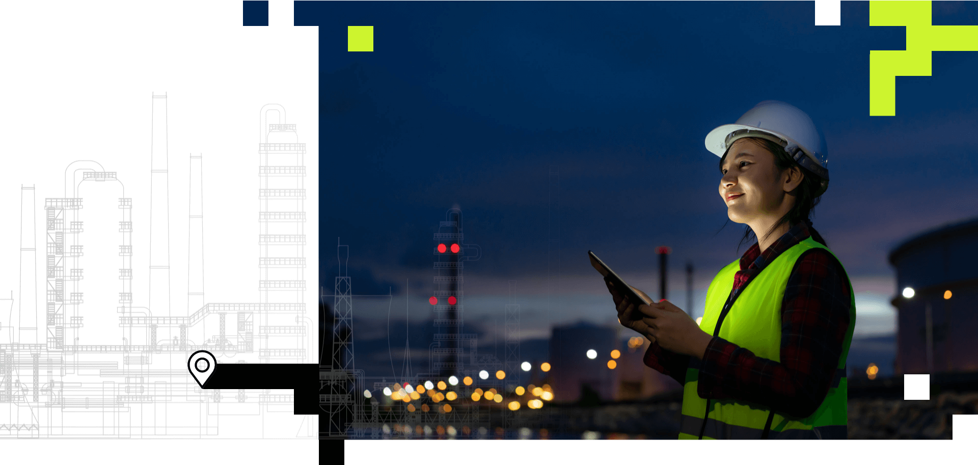 Industry Sectors: Pharmaceutical, Oil and Gas, Data Centres, Data Centers.  Site familarisation tool.  EHS ERT Software. Equipment Location.  Site Familiarisation Tool.  Asset Navigation