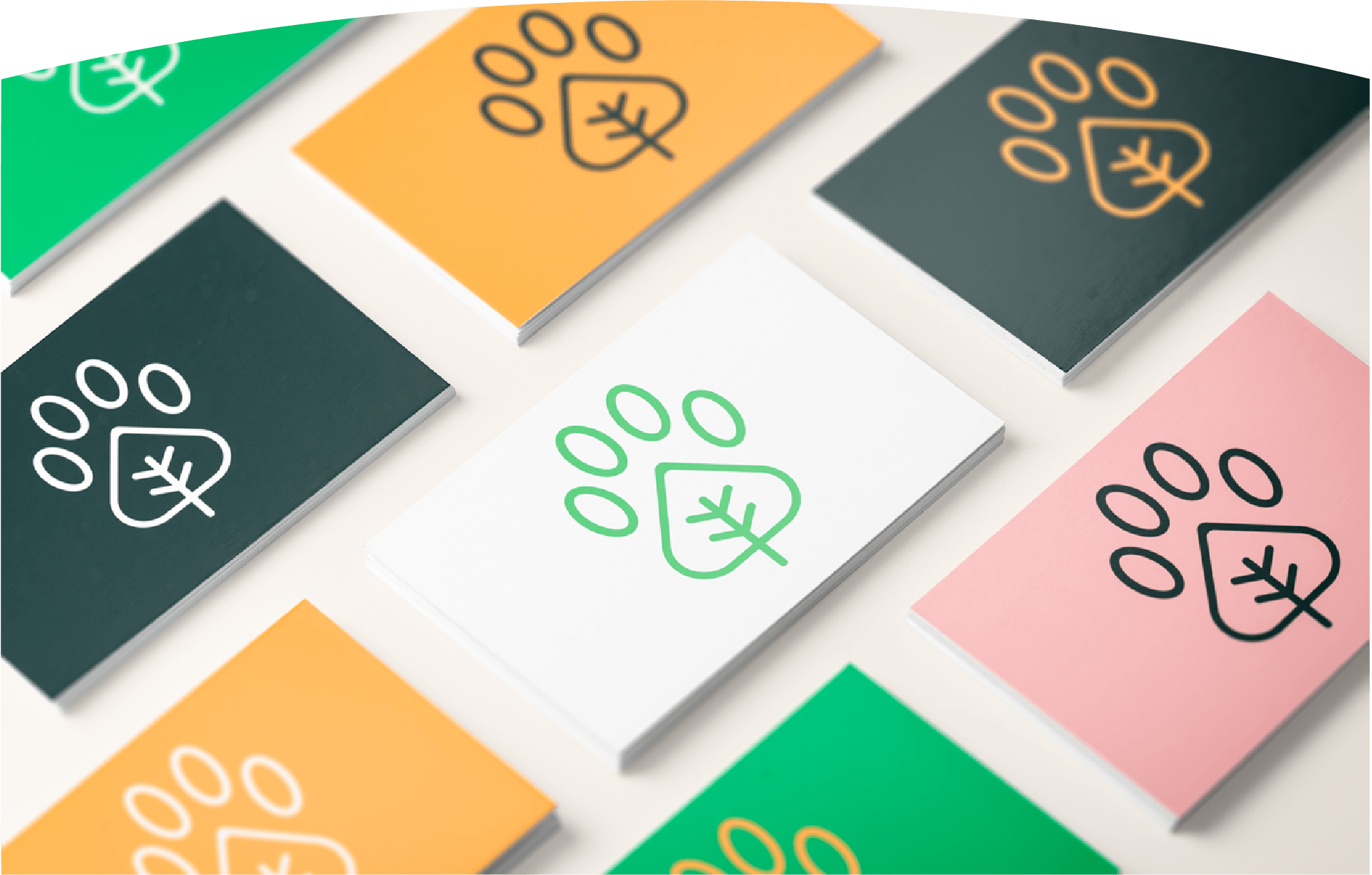 business card for pet brand
