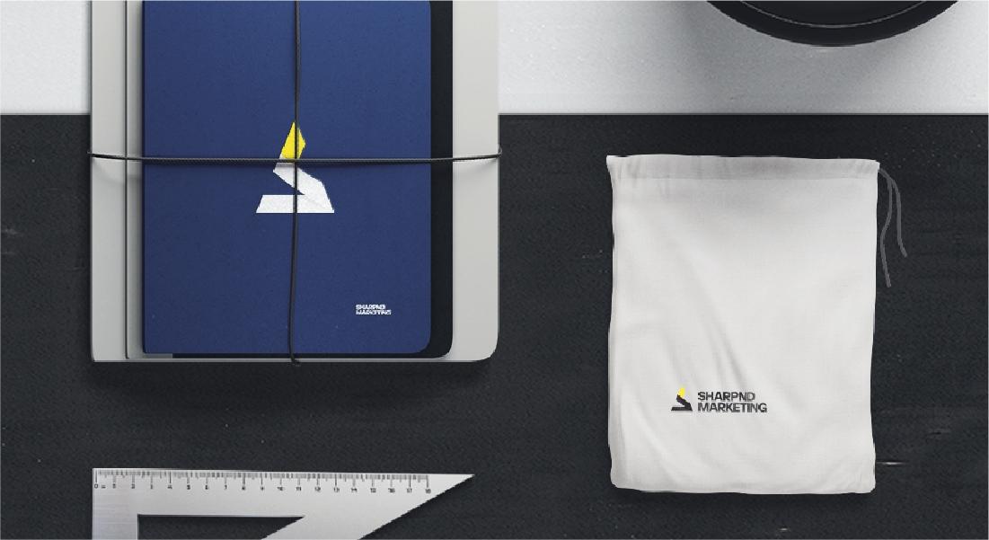 sharpnd marketing - branding & web design project
