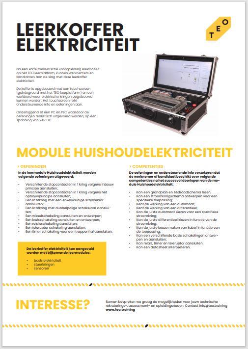 productfiche leerkoffer elektrciteit - residentieel