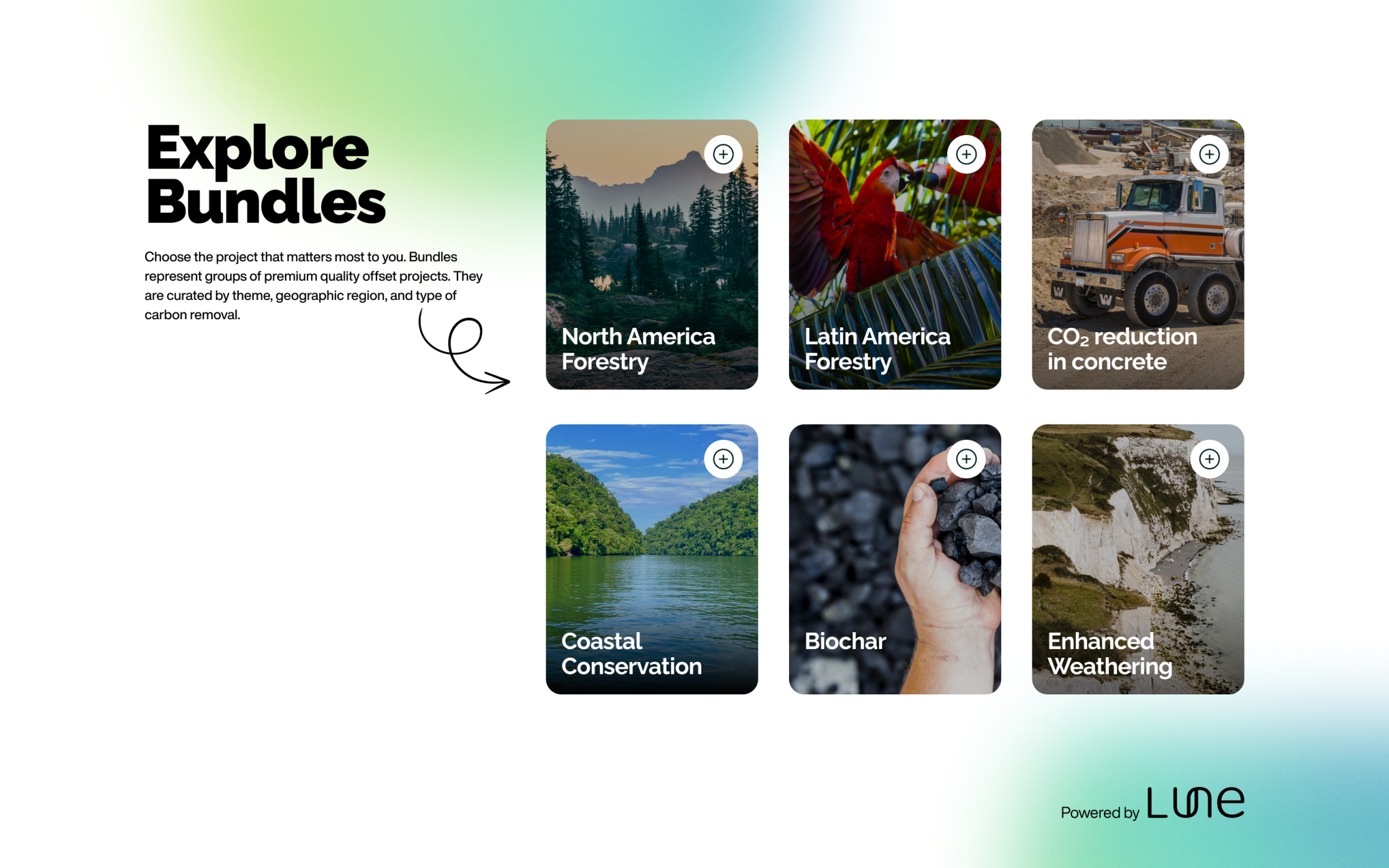 Carbon offset and removal projects curated by Lune