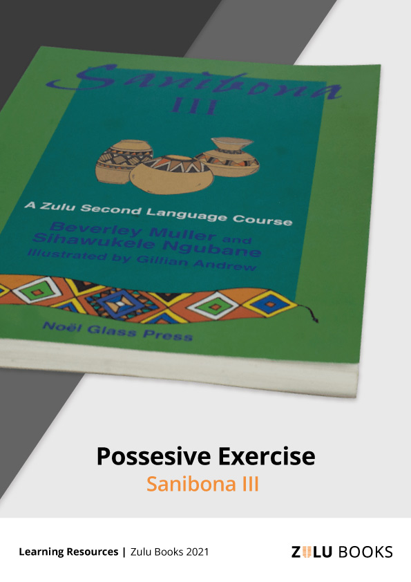 Cover image for Possessive Zulu language exercise