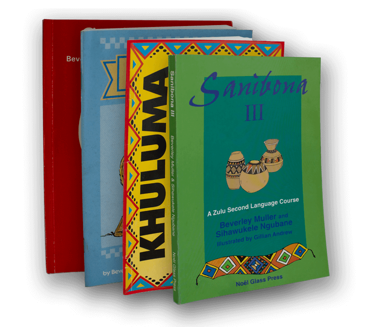 A collection of Zulu books by Bev Muller