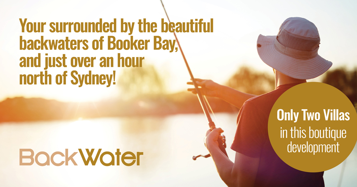 Booker Bay is somewhat like a fisherman's paradise as the waters flow around it. Two stunning villas completed in near record time!