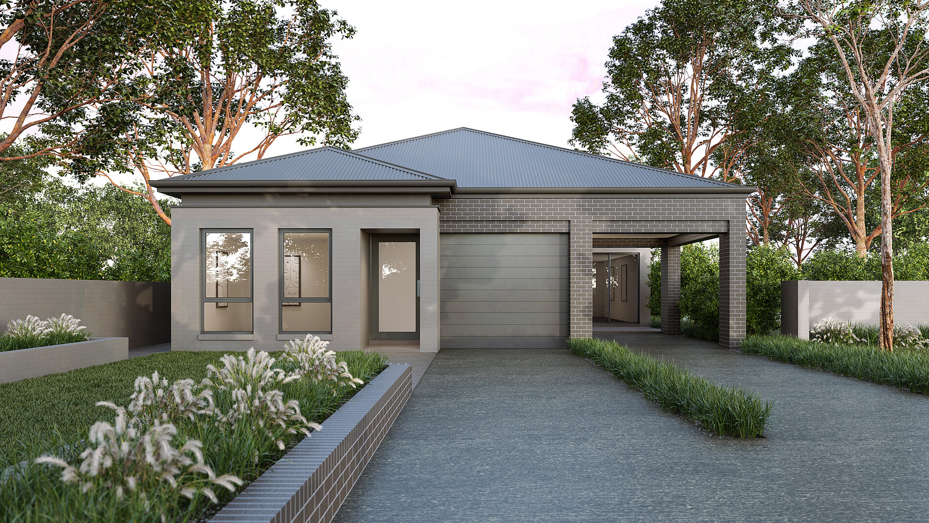 Versatile Homes Woodland Style Façade from our Duo Collection. An ideal styling where to be located within a new or established leafy neighbourhood.