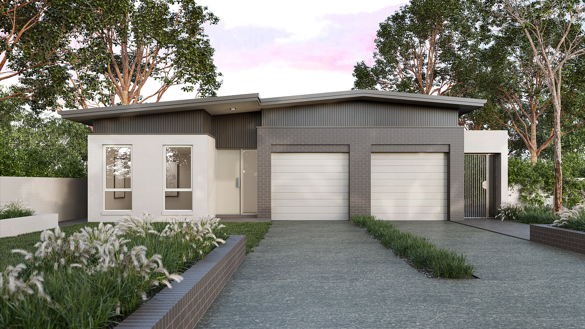 Versatile Homes Coastal Style Façade from our Duo Collection. Stand out in your new estate or blend in with other homes in your established neighbourhood.