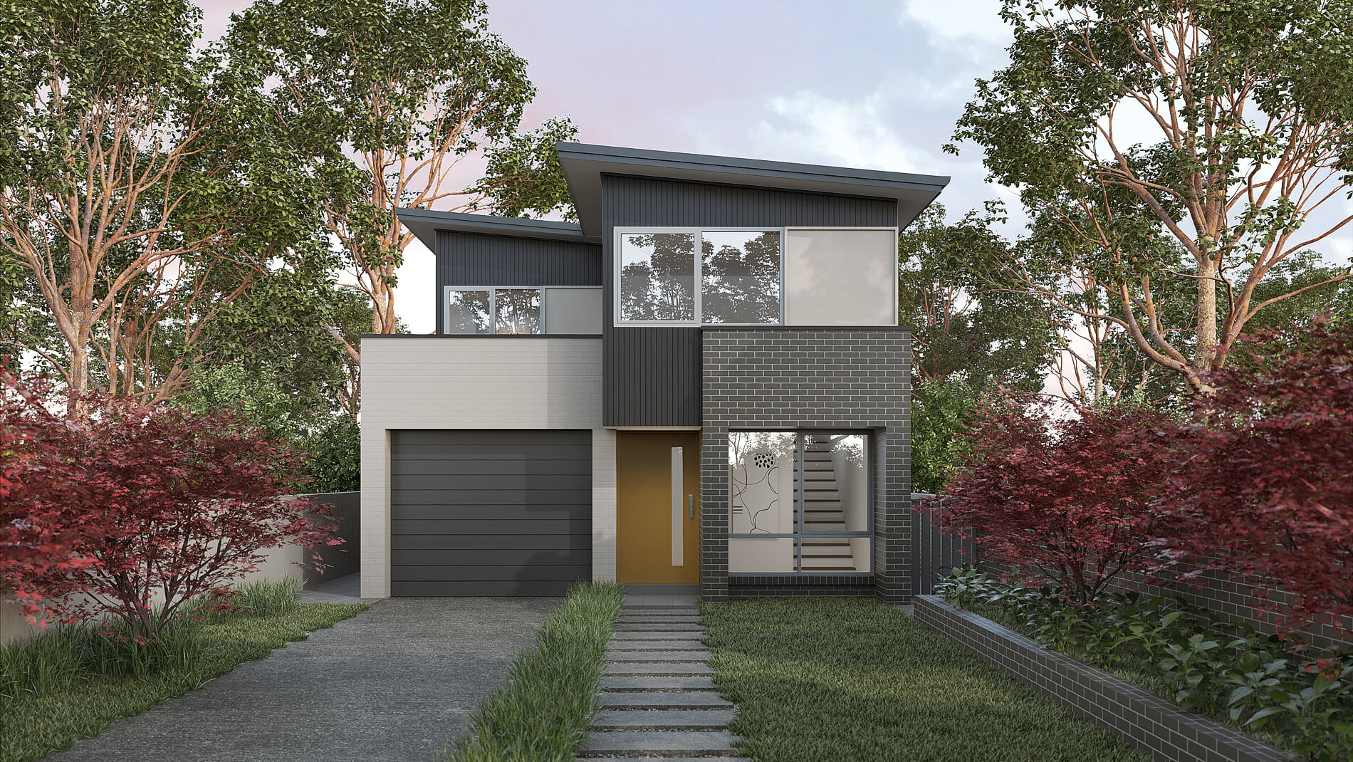 Versatile Homes Coastal Style Façade from our Slender Collection. Stand out in your new estate or blend in with other homes in your established neighbourhood.