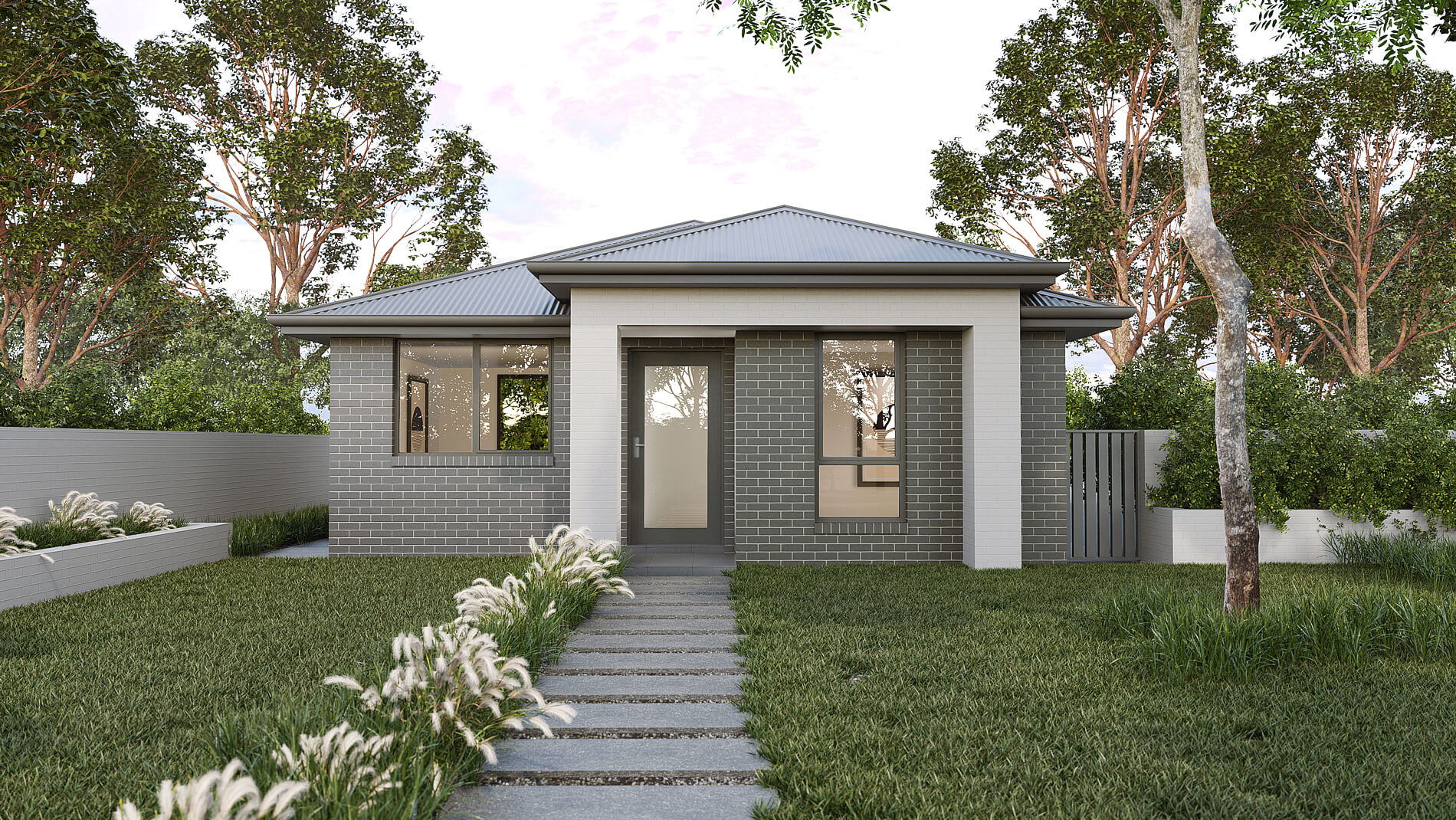 Versatile Homes Woodland Style Façade from our Studio Collection. An ideal styling where to be located within a new or established leafy neighbourhood.