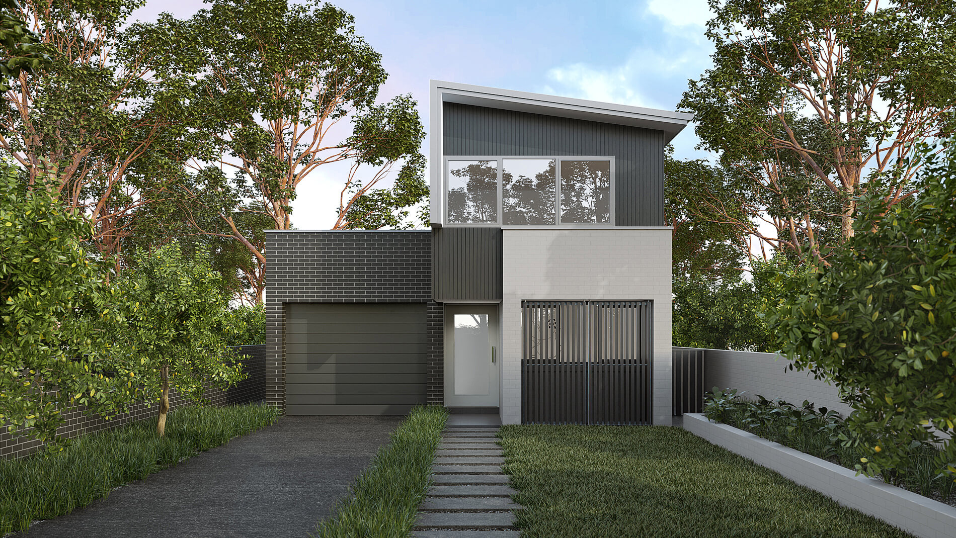 Versatile Homes Foreshore Style Façade from our Slender Collection. Bold and beautiful, a striking façade for any coastal location where lightweight style structures are prominent.