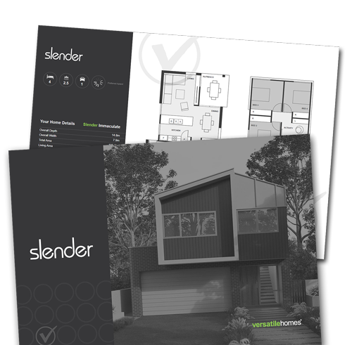 Download your copy of the Versatile Homes Slender Collection Brochure