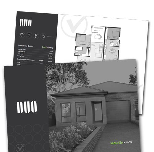 Download your copy of the Versatile Homes Duo Collection Brochure