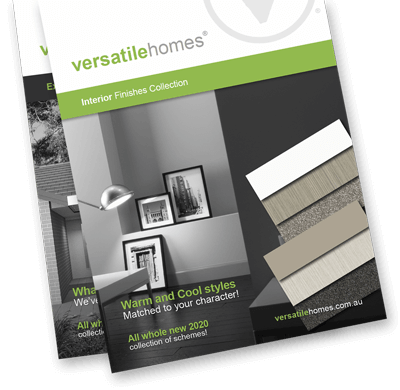 Versatile Homes stunning finish collections. All materials and colours are hand matched by our designer.