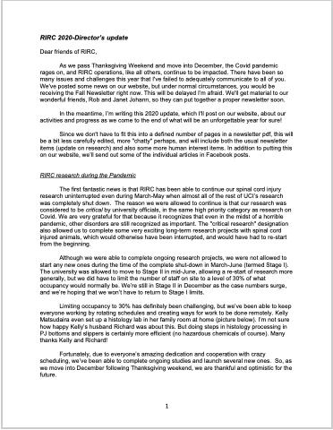 RIRC Fall 2020, Publication 33