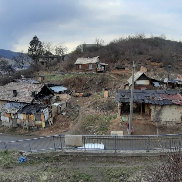 Romská osada v Klenovci