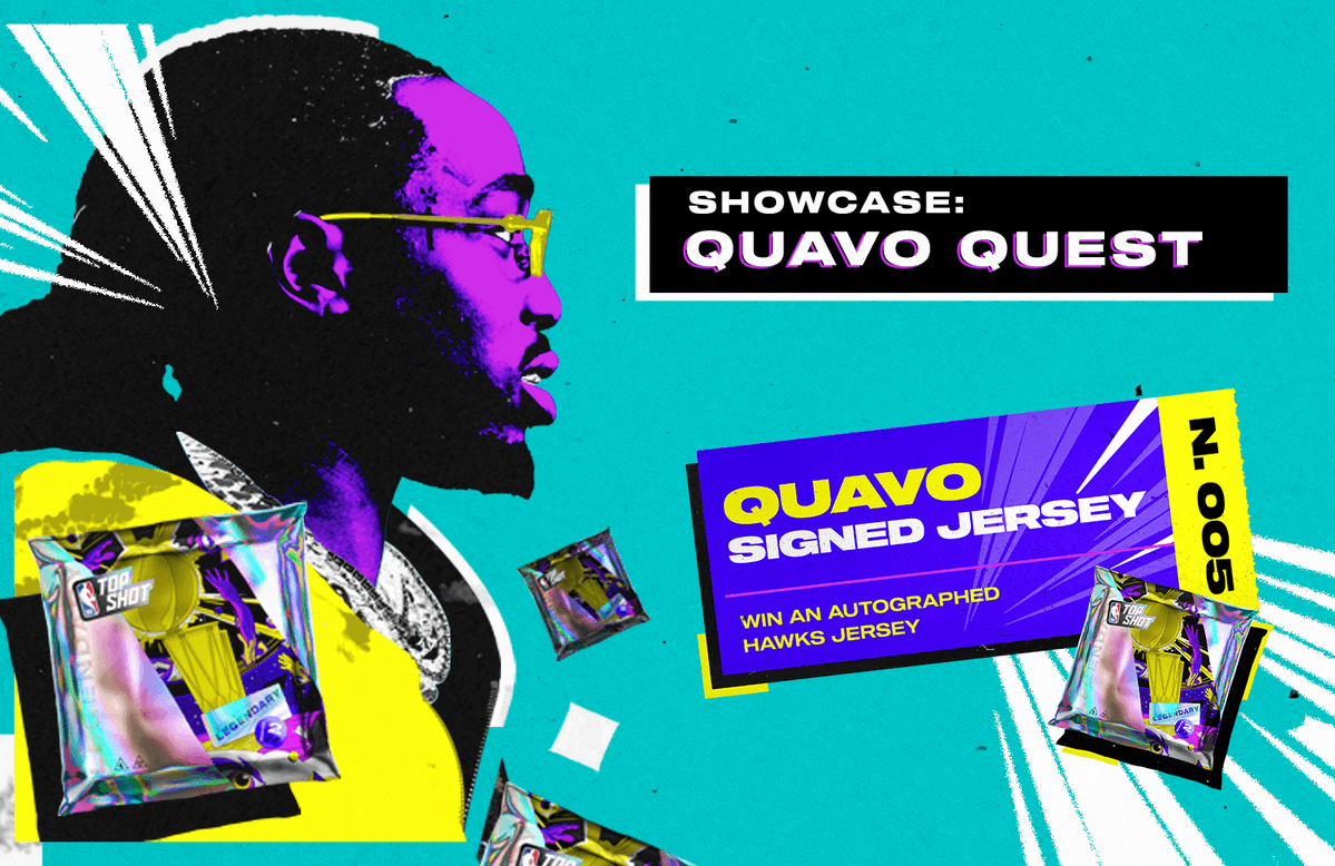 NBA Top Shot has partnered with Atlanta Hawks superfan and frontman of trap group Migos, Quavo, to announce the last Legendary drop of the season and to give collectors a chance to win an autographed Hawks jersey, Legendary Packs and collector score bonuses.