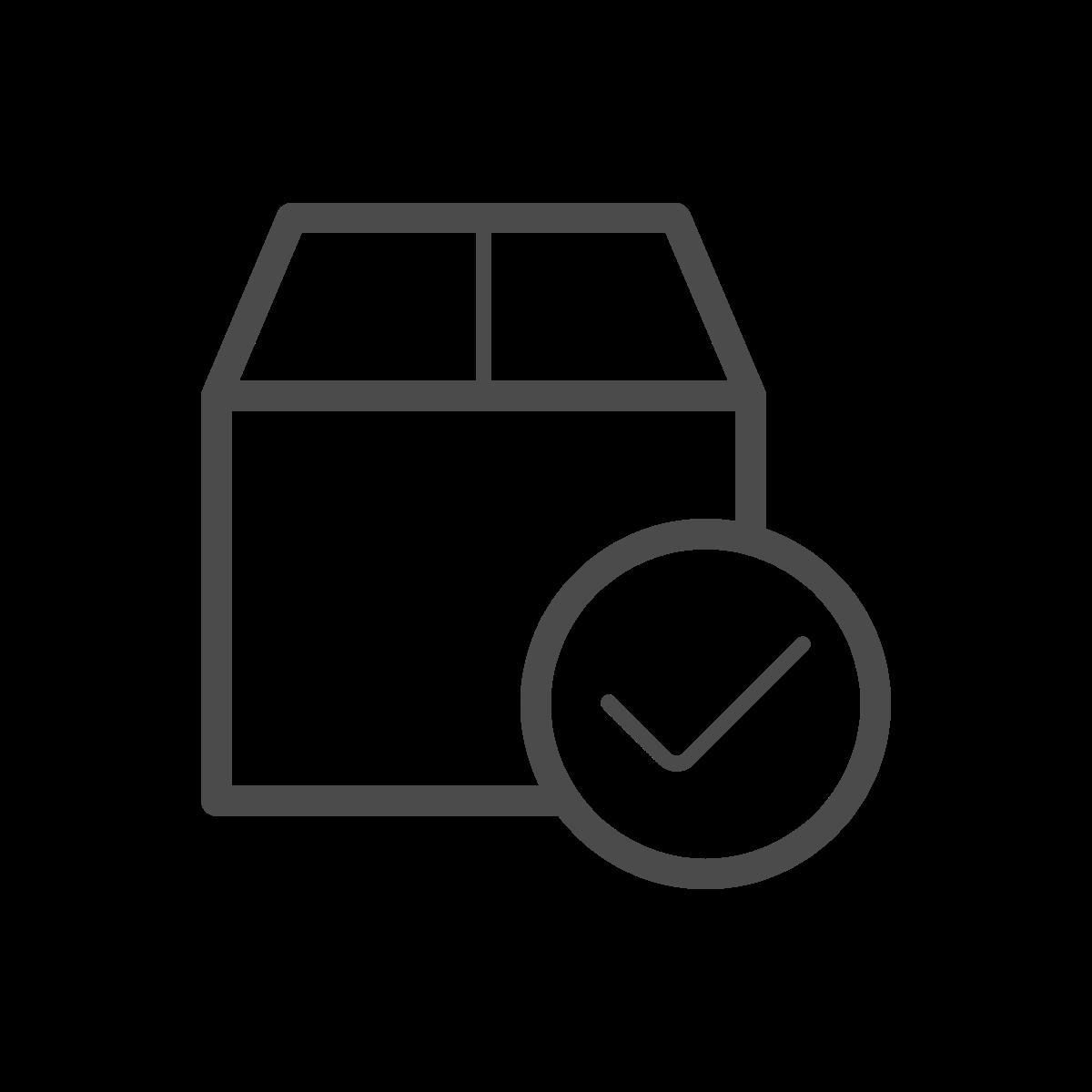 minimal successful shipment icon