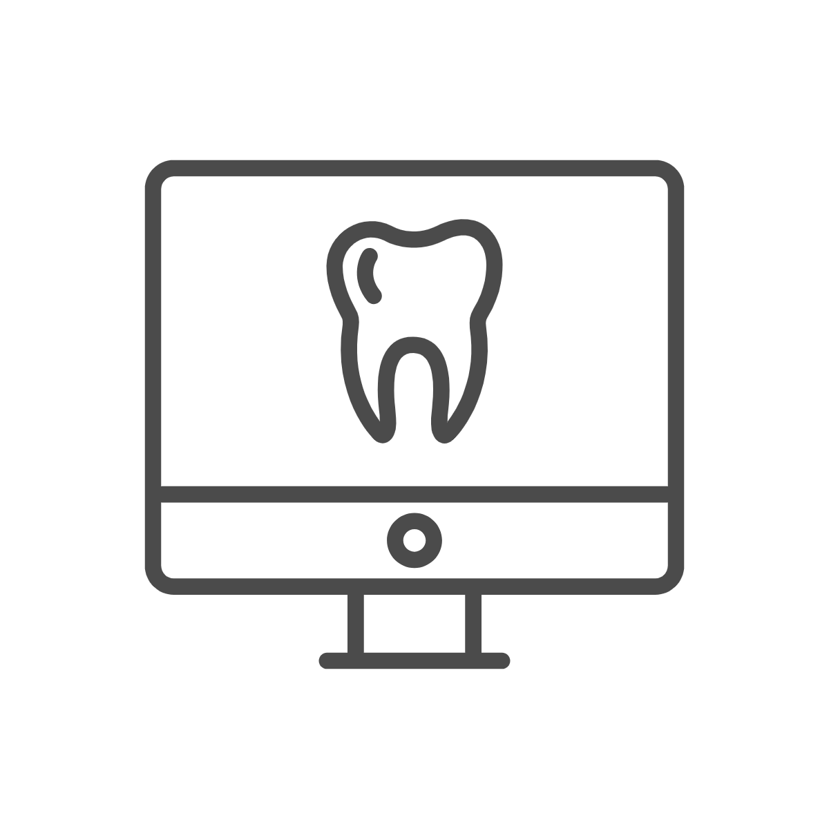 Tooth on computer screen icon