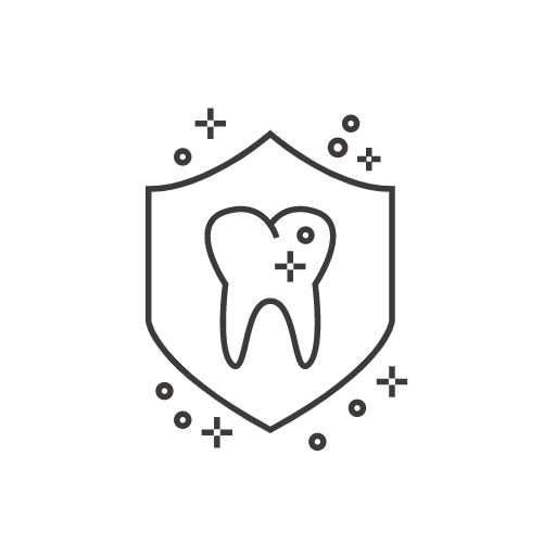 clean tooth on shield icon