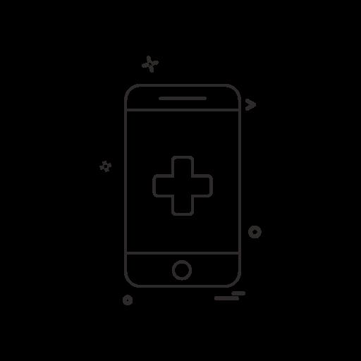 health icon on smartphone screen