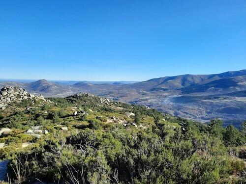 vistas desde Peña Negra Béjar Salamanca