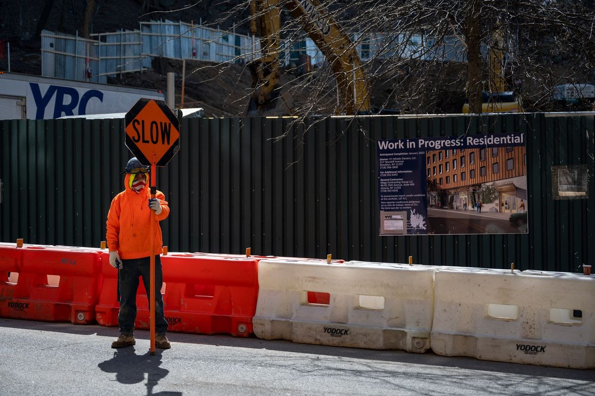 Construction is underway uptown on the new Rocky Mountain Baptist Church residential development on Hillside Avenue. March 19, 2021.