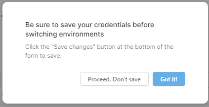 Pop-up showing save option within Retool resource