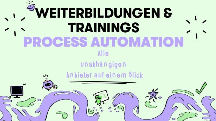Process Automation: Alle unabhängigen Weiterbildungsanbieter auf einen Blick